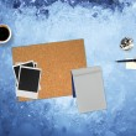Paper Pen Coffee — Stock Photo