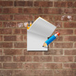 Paper note with pencil — Foto de Stock