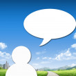Dialog speech bubbles — Stock Photo