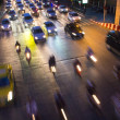 Traffic jam in bangkok at night — Stock Photo