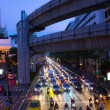 Traffic jam in bangkok at night — Stock Photo #34421273