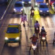 Traffic jam in bangkok at night — Stock Photo #34421301
