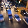 Traffic jam in bangkok at night — Stock Photo #34421661
