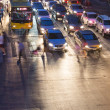 Traffic jam in bangkok at night — Stock Photo #34421677