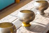Kovové mnich alm mísa pro darování — Stock fotografie