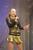 """Ahartsova Anastasia with song """"Actress"""" — Stock Photo"""