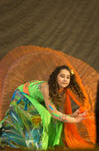 "Mamadova Daria with dance ""Eternal Flame"" — Stockfoto"