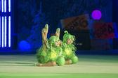 """Baby-Cup BelSwissBank"" gymastics contest, Minsk, Belarus. — Stock Photo"