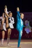 """baby-taza belswissbank"" gymastics concurso, minsk, bielorrusia. — Foto de Stock"