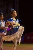 """bebê-Copa belswissbank"" gymastics concurso, minsk, Bielorrússia. — Fotografia Stock"