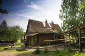 Old russian vintage house — Stock Photo