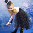 Young little girl in dance costume — Stock Photo #39343327