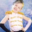 Young little girl in dance costume — Stock Photo #39343393