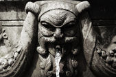 Fountain face — Stock Photo