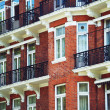 Stock Photo: Red brick facade