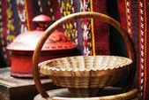 Wooden basket — Stock Photo