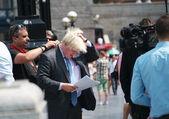 Boris Johnson outside the City Hall — Stock Photo