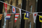 Nadnárodní vlajky — Stock fotografie