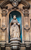 Elizabeth I Statue at St Dunstan in the West — Stock Photo
