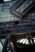 Canary Wharf crane — Stock Photo