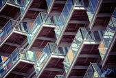 Balconies pattern — Stock Photo