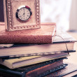 Clock and journals — Stock Photo #51521853