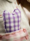 Fabric heart — Stock Photo