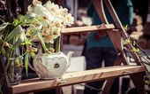 Narcisy na trhu — Stock fotografie