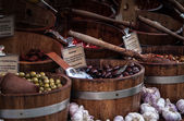 Olives in the market — Stock Photo