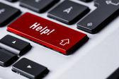 Pomocy klawiatury — Zdjęcie stockowe