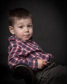 Jistý chlapec — Stock fotografie