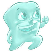 Illustration of a happy tooth Illustration of a happy tooth Illustration of a happy tooth — Stockfoto