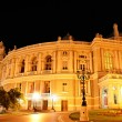 Night view of public opera and ballet theater in Odessa — Stock Photo