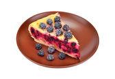 Domácí ostružinový koláč — Stock fotografie