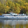 Motor travel river ship — Stock Photo