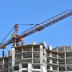 Crane and construction site — Stock Photo #13698242