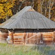 Ancient wooden barn — Stock Photo