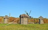 Vecchio mulino a vento — Foto Stock