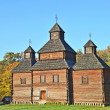 Antique wooden church - Stockfoto