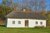 Antica capanna con tetto di paglia — Foto Stock