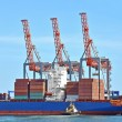 Cargo crane and ship — Foto de Stock