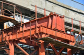 Bridge repair and construction site — Stock Photo