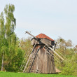 Stock Photo: Antique wooden windmill