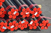 Stacked PVC and steel pipe — Stock Photo
