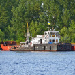Tugboat assisting barge — Stock Photo #19644311
