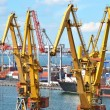 Cargo crane and ship - Foto Stock