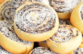 Homemade cookie roll with poppy — Stock Photo