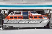 Bezpečnostní záchranný člun — Stock fotografie