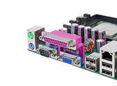 计算机主板的连接器 — 图库照片
