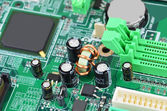 Computer motherboard board — Stock Photo
